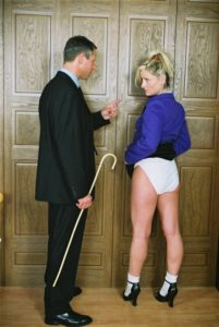 Steve Bickers and Natasha in a scene from The Headmaster's Study