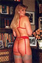 Kane model Sue Ellis with a well caned and stripey bum