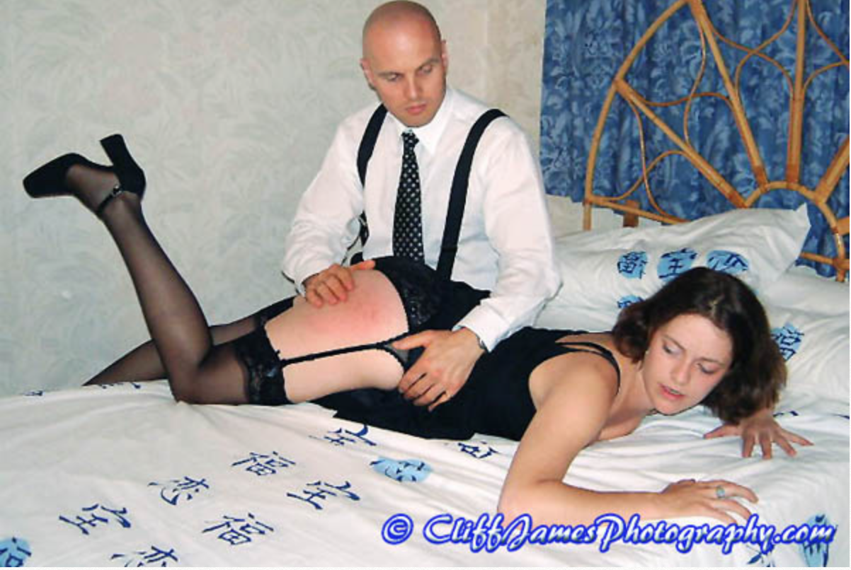 Rachel Lloyd gets spanked by Master Kain in the video The Spanked Wives Club