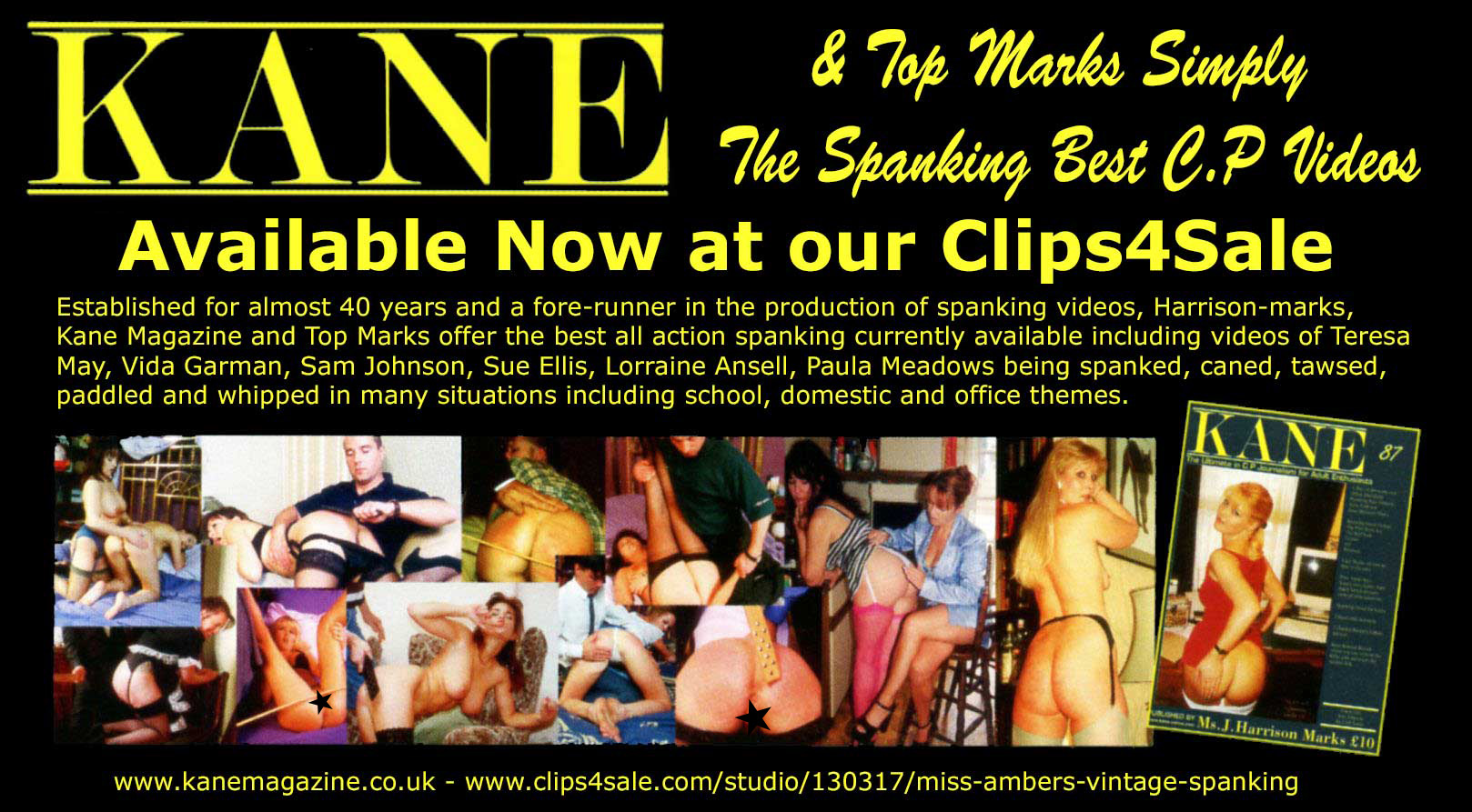 Harrison Marks Kane International and Top Marks Classic Spanking Videos