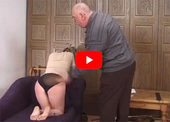 Au pair spanking