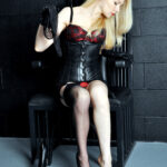 The infamous Mistress Eleise, London Dominatrix, jet-set Femme Fatale and former resident Domina of The English Mansion.
