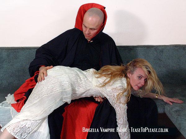 Brigella the vampire bride gets spanked