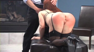 The attention to her bare bottom has only amplified her fixation with getting her needs met. A smart pussy spanking only makes matters worse as the red-headed fox indicates to her therapist how badly she needs to have sex. Dr. Karmic's passionate patient pleasures him orally, then yields her seductive womanhood to his throbbing masculinity as though it were their wedding night.