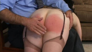 This is from our 1st series, a rear view collection of Shadow Lane beauties upturned, uncovered and spanked rosy red. No Ifs, Ands - Just Butts! 1, is a bountiful video clip compilation, wherein the cynosure of each vignette is the well-spanked, blushing seat of a naughty, punished lady. In response to popular demand, Shadow Lane presents bare bottom spankings close up, featuring our most glamorous and shapely submissives, receiving the corporal punishment they deserve. In this series, all the spotlights are turned on the bouncing buttocks of 18 beautiful Shadow Lane girls as their flawless backsides are paddled and spanked in classic style. First the viewer gets a quick look at the lovely face of the lady being punished, then it's all rear action to the end of each scene. Needless to say, the spanking in these video excerpts is good and hard!