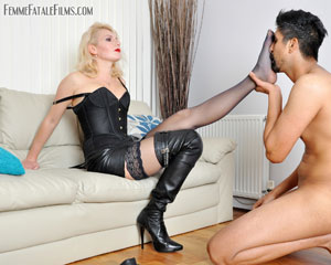 Hungry For Leather Boots