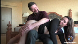 When charming Adriana confides she longs for a truly erotic scene, Brian knows that she wants to be spanked until she comes. In this scene, Brian gets their scene going with a friendly over the knee application of hand to bottom.