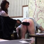 We get straight into the action in this video where this miscreant is severely punished in after school detention. We open with this deadbeat student bent over a desk as Miss comes over, yanks down his underpants and spanks him hard and follows it up with a paddle. Next, we see him bent over again, this time taking the cane with some harsh strokes. The final scene has our poor student strapped ont the spanking bench, bare bottom out, ready to take an absolute thrashing with the cane, his bottom getting redder by the stroke until the skin breaks in several spots, which spurs on Miss to even harsher strokes. With no intro or padding you can enjoy thirteen minutes of uninterrupted correction.