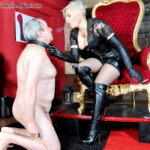 Featuring Mistress Johanna. Being slave to Mistress Johanna is an extremely special honour and to maintain that most privileged position of servitude, a slave must endure whatever form of treatment she may decide to dish out! This session sees Mistress Johanna using a plethora of testing treatments on her slave, including using him as a human ashtray, a boot polisher, a trample carpet, a spittoon, his balls for ballbusting, kicking and face slapping as well as a good lump of slave meat to thrash.