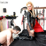 Mistress Athena is determined her slave will see heavy use today. She will not even put a well-heeled foot out of bed until her slave has worshipped them to a mirror shine, then offered his weary mouth as an ashtray for his Mistress' spit and ash.