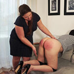 a humiliating punishment with the heavy wooden paddle